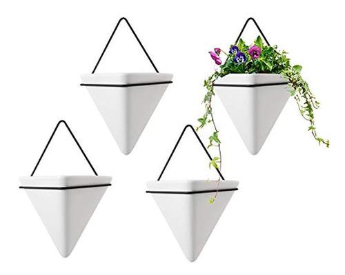 Maceta De Pared Triangular, Jarrón Y Maceta Geométrica