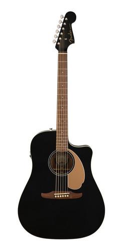 Guitarra Electroacústica Fender  California Redondo Player Jetty Black
