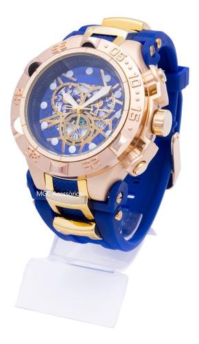 Relógio De Pulso Masculino Luxo Reserve Grande + Brinde