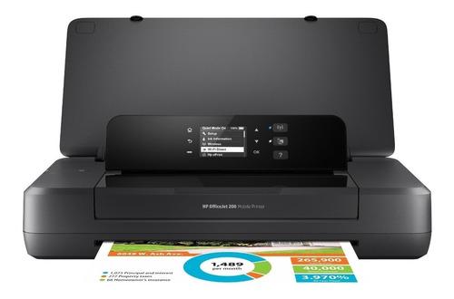 Impresora Portátil A Color Simple Función Hp Officejet 200 Con Wifi Negra 200v - 240v