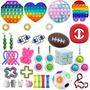 Pop It Fidget Toy Push Pop Kit 34pcs Bubble Autismo