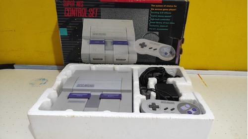 Super Nintendo Com Caixa Frete Grátis