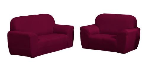 Capa De Sofa Lisa 3 E 2 Lugares Diversas Cores Coladinha