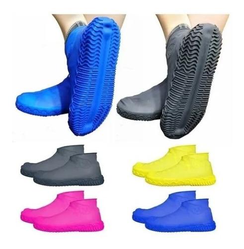 Capa Chuva Tênis Sapato Silicone Infantil Impermeável Tam P