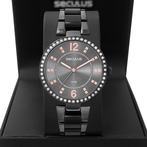 Relógio Feminino Seculus 2 Anos De Garantia 77016lpsvsf5