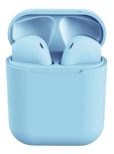 Auriculares In-ear Inalámbricos I12 Tws Celeste
