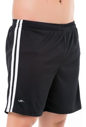 Short Calção Futebol Academia Lazer Com Cordão Até Plus Size