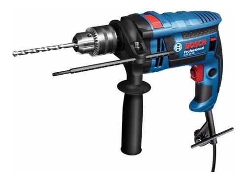 Furadeira Elétrica De Impacto E Parafusadeira Bosch Professional Gsb 16 Re 3250rpm 750w Azul 110v