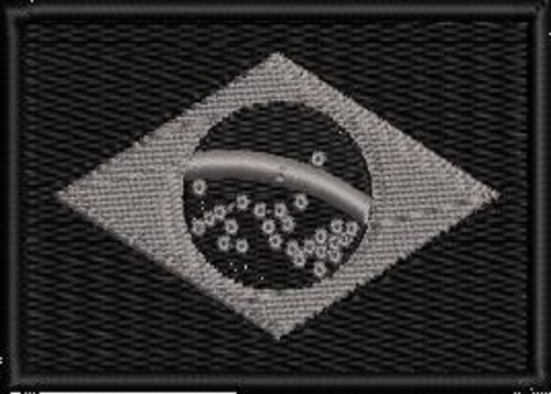 Bandeira Brasil Bordada Negativa C/ Fixador Velcro® Bdp107