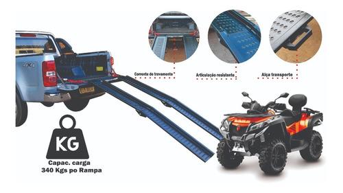 02 Rampas Dobrável Embarque De Motos Grande Mod 2000/240 Ac