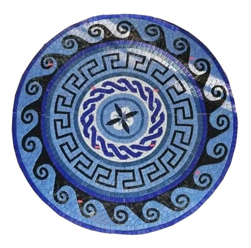 Mosaico Figura  Medallón Olas 1.00 Mt Para Alberca O Jacuzzi