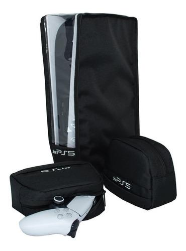 Ps5 Kit 3 Peças Para Ps5 Capa Console 2 Cases P/ Controle