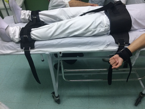 Faixa Kit Psiquiátrico Para Remoção Em Ambulância
