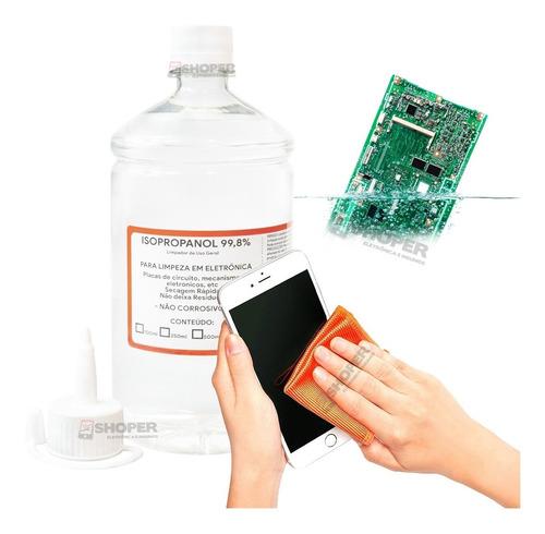 1 Litro Alcool Isopropylico Puro 99,8% Limpador De Uso Geral