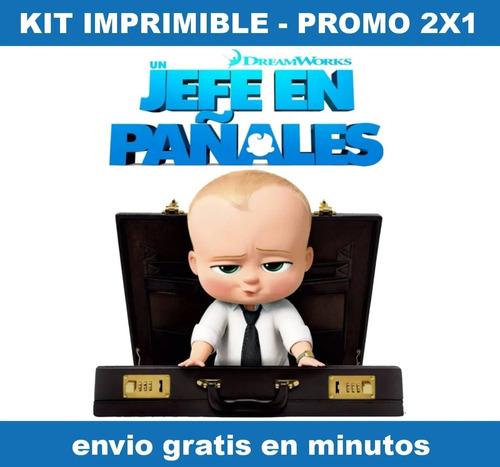 Kit Imprimible Un Jefe En Pañales Candy Bar Promo 2x1