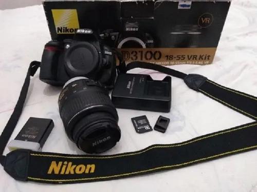 Câmera Profissional Nikon D3100 Semi Nova F Grátis 12x S/ Ju