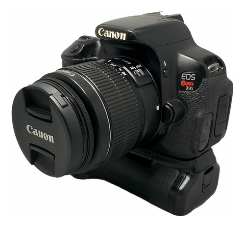 Câmera Cânon T4i C Lente 18:55 Mm Grip Seminova Garantia