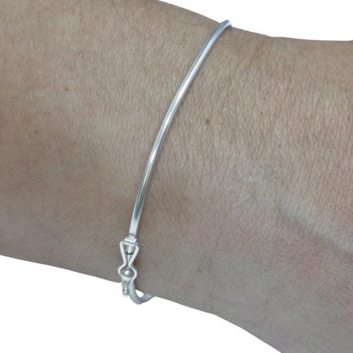 Pulseira Bracelete Rígido Prata 925 - Ideal Para Pingentes
