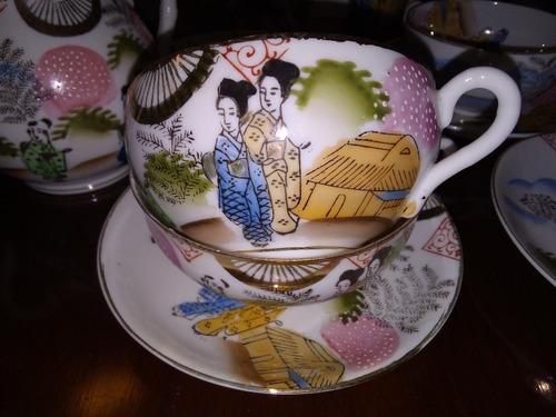 Juego De Té Japonés Muy Antiguo Cáscara De Huevo