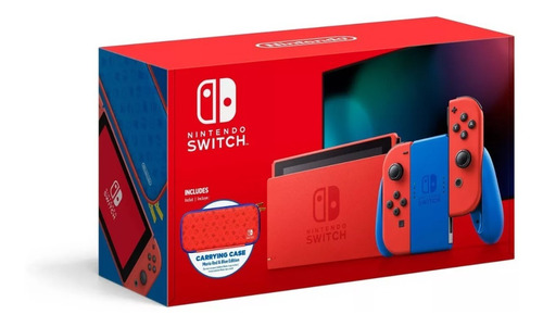 Nintendo Switch 32gb Edição Mario Azul E Vermelho