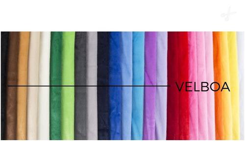 Tecido Em Pelúcia Velboa Pelo Baixo - 50cm X 1,50 Mt Largura