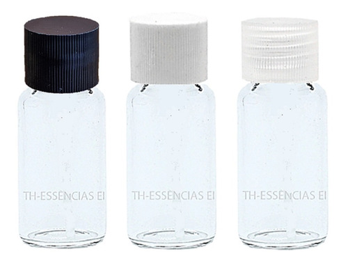 100 Flaconetes Vidro 5ml C/ Tampa Amostra De Perfume.