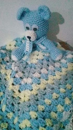 Manta Mantilla De Apego Crochet Amigurumi Oso /hipopótamo