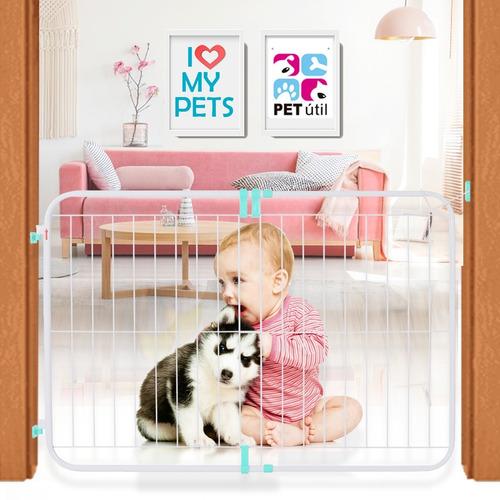 Portão Grade Expansivo Proteção Criança Cão Pet 70 A 115 Cm