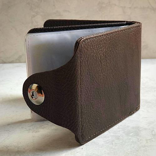 Carteira Masculina Dinheiro Documento Cnh Rg Couro Original