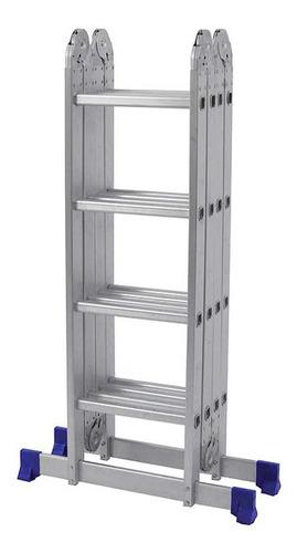 Escada Alumínio Dobrável Multifuncional 4x4 16 Degraus Mor
