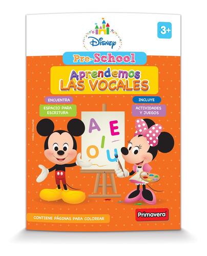 Libro Pre-school Aprendemos Las Vocales  By Disney