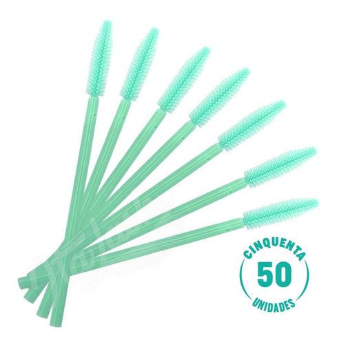 50 Escova Escovinha Silicone Para Cílios E Sobrancelhas