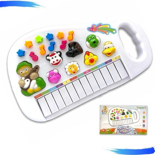 Piano Infantil Musical Som De Animais Fazenda Pronta Entrega