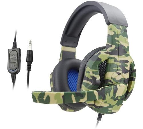 Headset Gamer Camuflado C/ Microfone - Ps4 E Xbox One