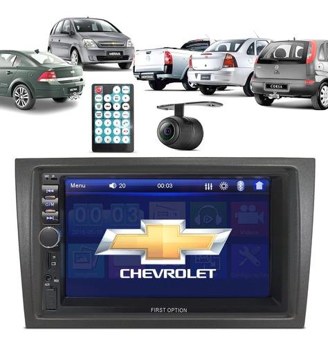 Multimídia Mp5 Gm Chevrolet Moldura Câmera Ré Espelha Usb