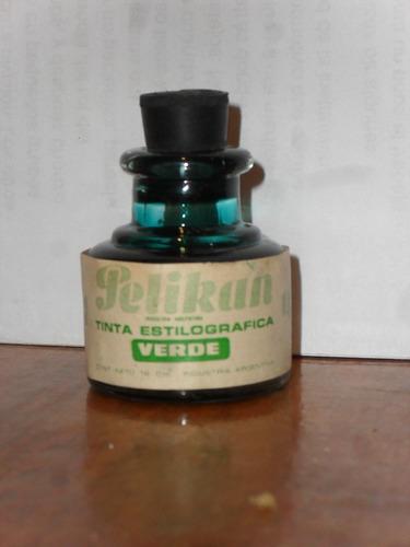 Tinta Pelikan Estilográfica Verde Frasco De Vidrio