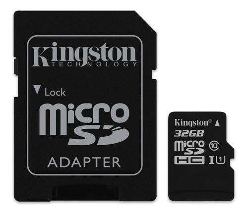 Tarjeta De Memoria Kingston Sdcs Canvas Select Con Adaptador Sd 32gb