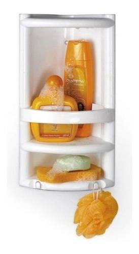 Porta Shampoo Cantoneira Para Banheiro Plástico Organizadora