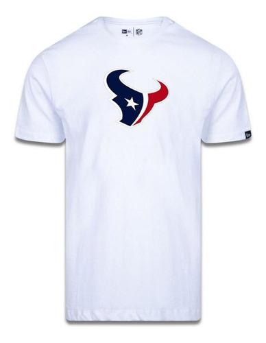 Camiseta New Era Houston Texans Logo Time Nfl Branco