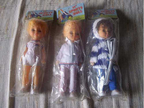 2 Muñecas Retro Deportistas . 11`sport Doll . Hong Kong