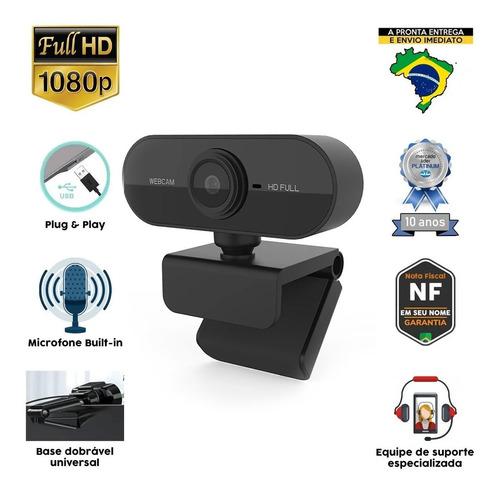 Webcam Full Hd 1080p Câmera Usb Live Stream Alta Resolução