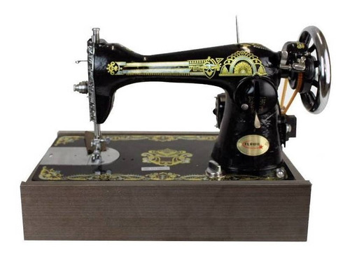 Máquina De Costura Semi Industrial Reta Flawil Fw-a2 Preta 110v