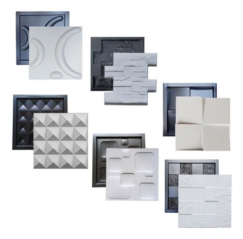 6 Formas Pra Gesso 3d Cimentício Modelos 29x29 Abs 1,3mm