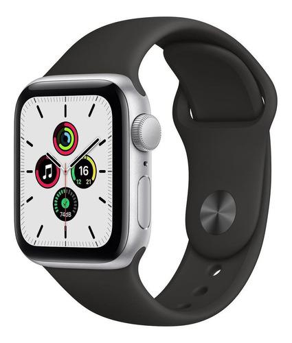 Apple Watch Se (gps) 40mm Caixa 40mm De  Alumínio  Space Gray Pulseira  Black De  Fluoroelastómero A2351