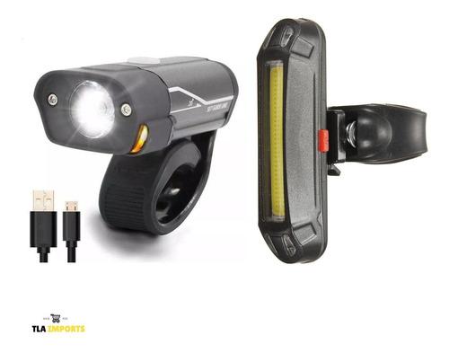 Kit 2 Luz De Segurança Bicicleta Farol Lanterna Led Bike Par