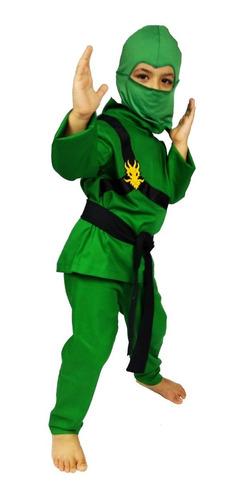 Fantasia Infantil Ninjago Lloyd Ninja Verde