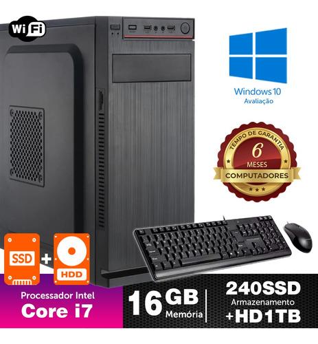Desktop Bs Intel Core I7 2g 16gb Ssd240+1tb