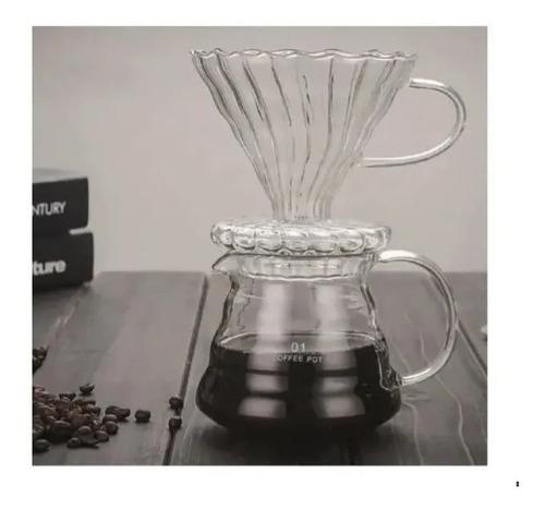 Coador Filtro Permanente De Café Com Suporte De Vidro Lindo