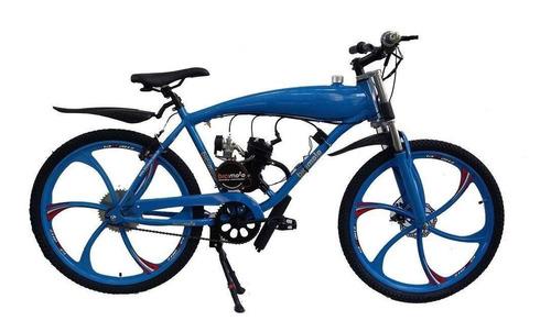 Bicicleta Motorizada 80cc 2 Tempos-alumínio Tanque Embutido
