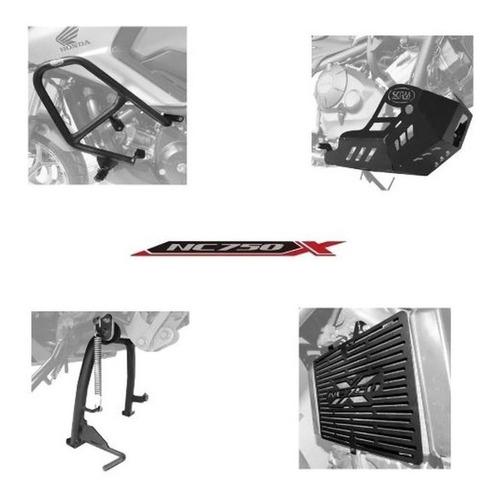 Kit Protetor Motor Radiador Carter Cavalete Nc750x Nc 750x